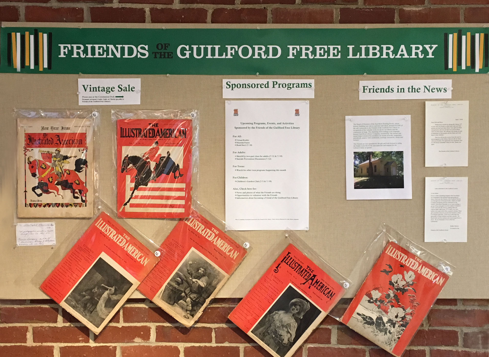 Friends Bulletin Board July 2018