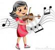 fiddling girl